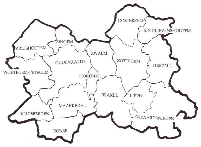 Oost Vlaanderen Steden de Regio Zuid-oost-vlaanderen